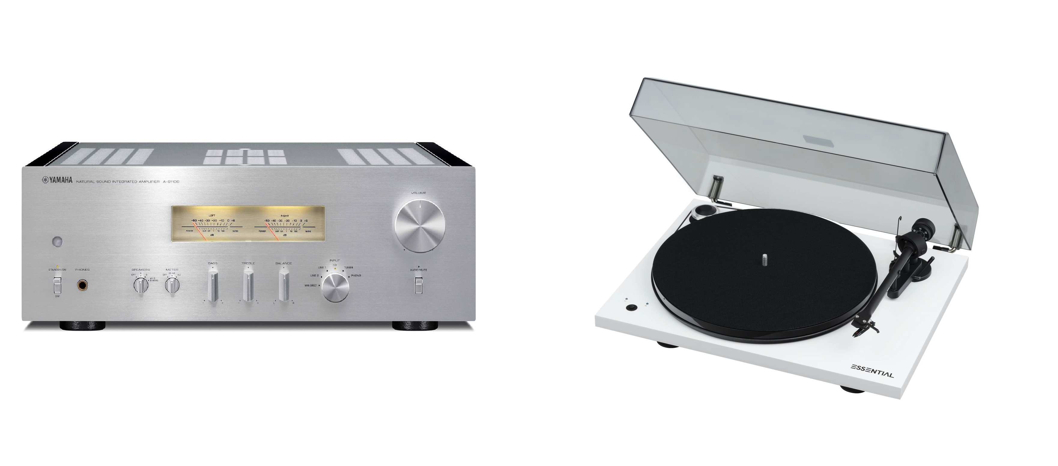 YAMAHA A-S1200 + Pro-Ject Essential III RecordMaster White + OM10