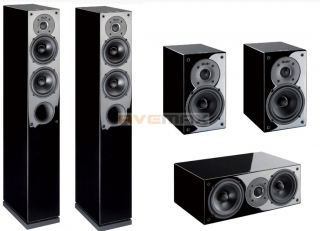 INDIANA LINE TESI HIGH GLOSS HOME CINEMA SET 5.0 BLACK