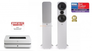 Bluesound POWERNODE 2i + Q Acoustics 3050i (bílé)